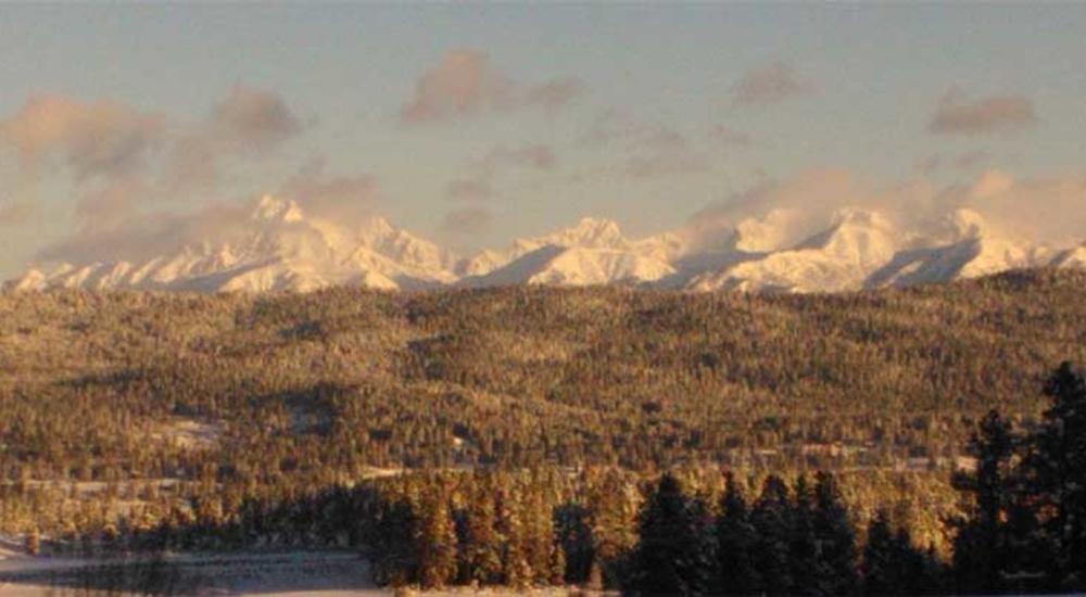 Stuart Mountains from Rosland Presbyterian Church